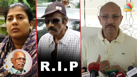 actor goundamani funeral goundamani sathyaraj condolence speech at popular