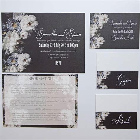 Contemporary Wedding Stationery by Monochrome Contemporary Wedding Stationery By Claryce