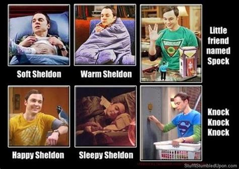 Soft Kitty Meme - 4 different versions of the big bang theory soft kitty