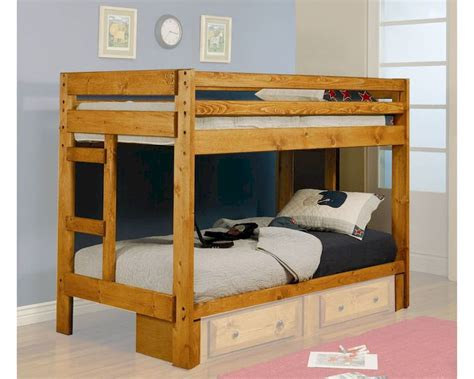 coaster furniture bunk bed wrangle hill