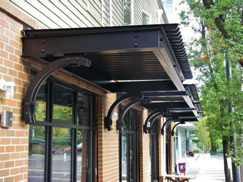 awnings portland metal awning commercial signage portland pike awning