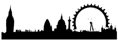 london skyline silhouette clipart best