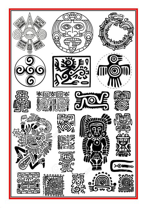 inca tattoo designs meanings aztec symbols 1 ancient azteken