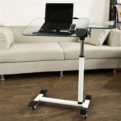 sobuy table d appoint en verre support pour pc table de