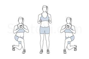 Shop Floor Plans curtsy lunge illustrated exercise guide