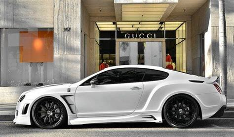 modded bentley continental gt parked   gucci