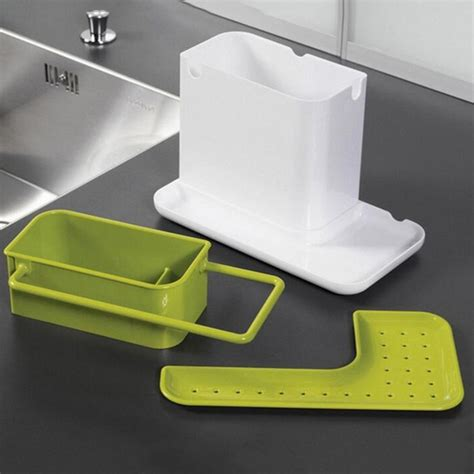 Kitchen Sink Caddy Kitchen Sink Utensil Holder Drainer Plastic Rack Organizer Caddy Storage Oe