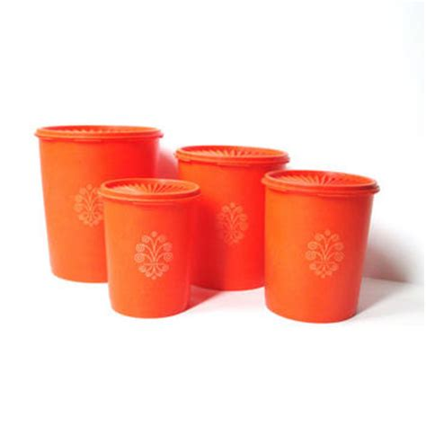 orange kitchen canisters shop tupperware canisters on wanelo