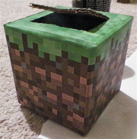minecraft box diy minecraft v day card box made to look like a grass