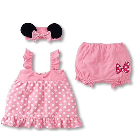 Set Baby Minnie baby summer clothes sets minnie mouse clothing set sling dot dress shorts bow headband