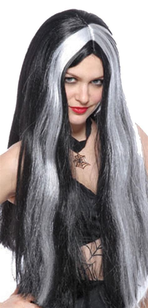 grey har diy with black streaks diy halloween hair diy halloween hairstyles adult black