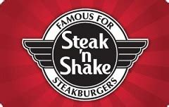 Steak N Shake Discount Gift Card - buy discount gift cards and save up to 60