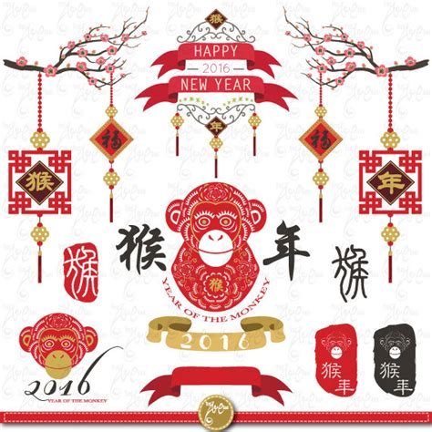 new year monkey lantern template year of the monkey 2016 new yearclipart by yenzarthaut