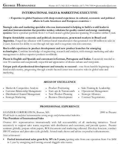 sle marketing executive resume sle sales and marketing resume 7 exles in word pdf