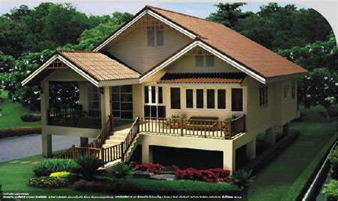 House Design Pictures Malaysia แบบบ าน แบบบ านไทยประย กต บ านช นเด ยวยกส งขนาดเล ก