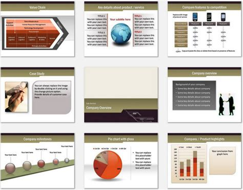 conference powerpoint template pin mckinsey ge matrix on