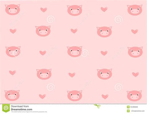 wallpaper pink pig romantic pig background stock illustration image of face