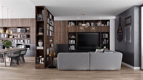 idee parete soggiorno libreria a parete 25 idee di design per arredare il