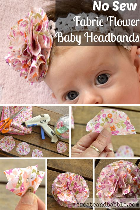 How To Make Paper Headbands - fabric flower baby headbands create and babble