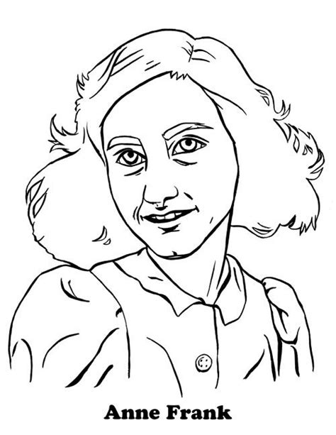 Anne Frank Coloring Page Coloring Pages Pinterest Franks Coloring Pages