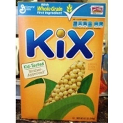 whole grain kix kix cereal with whole grain crispy corn puffs calories