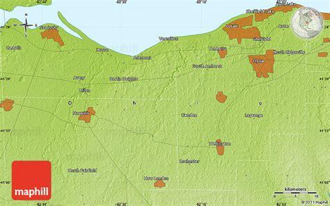ohio physical map physical map of sheffield lake