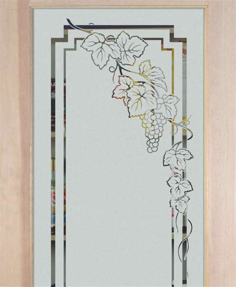 glass etching designs for kitchen grapevines designs sans soucie glass