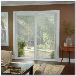 Patio Doors With Built In Blinds Prices by Andersen 4 Panel Door With Satin Nickel Hardware Windows