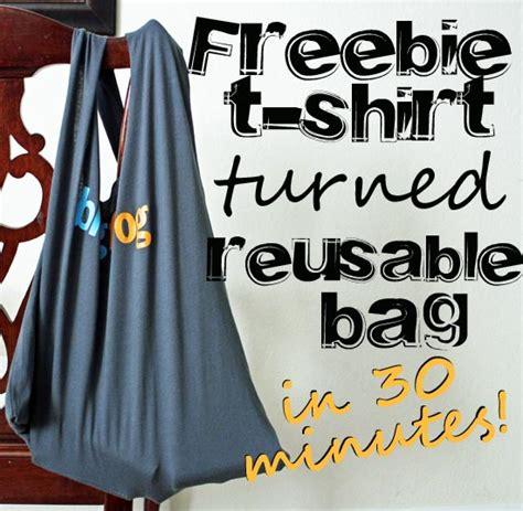 Purse Freebie Im A Herman Bag by Turn A Freebie T Shirt Into A Reusable Bag 30 Minute Crafts
