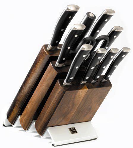 amazon com wusthof classic 11 piece knife set with block kitchen wusthof classic ikon 11 piece knife set with block black