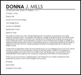 Cover Letter For Changing Careers by Career Change Resignation Letter Resignation Letters