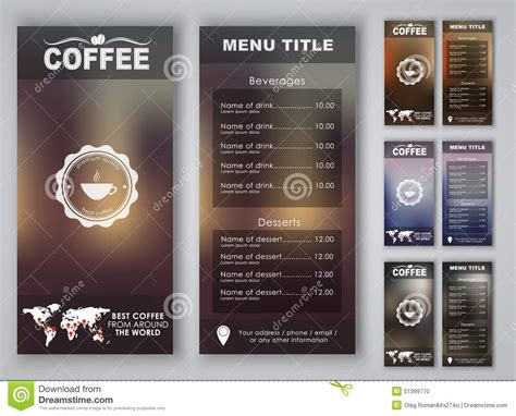 banner design coffee shop restaurant menu stock vector 699560560 design coffee menu with blurred background stock vector