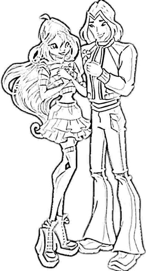 winx coloring pages pdf bloom and sky winx club colouring pages coloring home