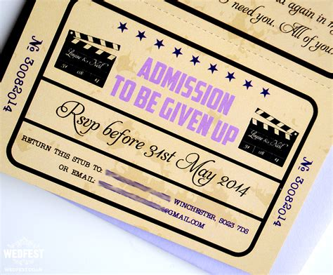 ticket wedding invitations wedfest