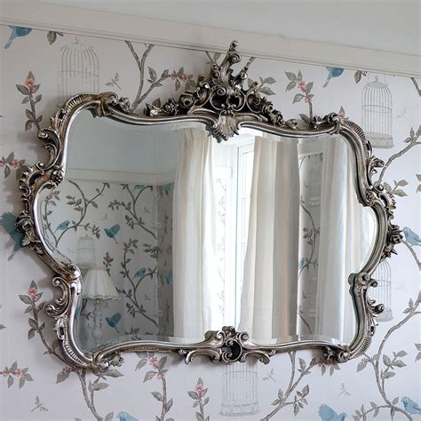 silver mirrors for bedroom miss lala s silver looking glass ornate framed mirror