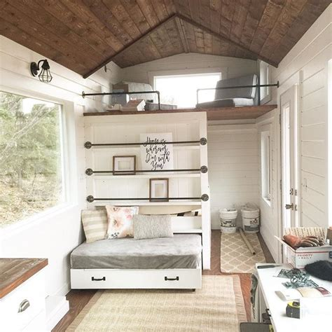 Tiny House Closet by White Tiny House Loft With Bedroom Guest Bed