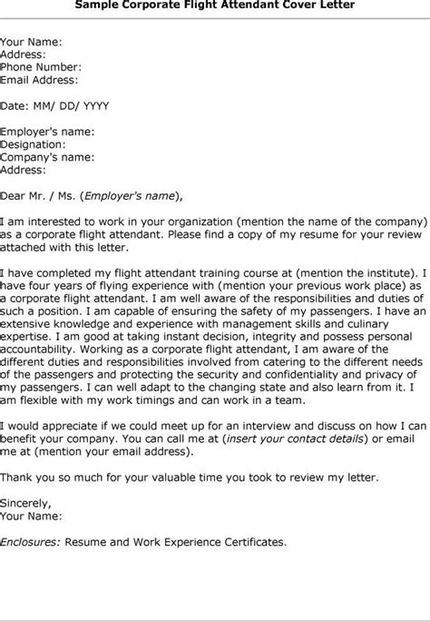 sle of cover letter for flight attendant position 28