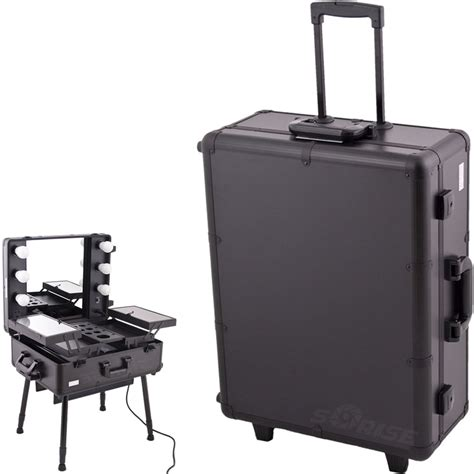 makeup train case with lights sunrise c6010 makeup rolling case artist cosmetic train