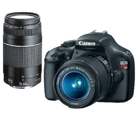 Memory Card Canon 1100d canon rebel t3 12 2mp dslr w 18 55mm lens 75 300mm lens 8gb sd card qvc
