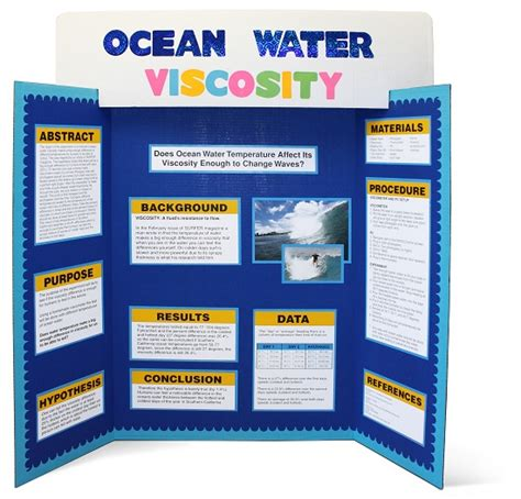 Science Fair The Gifted Exchange Tri Fold Presentation Board Templates
