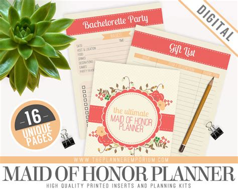Wedding Planner Kit Free by Ultimate Of Honor Wedding Planner Organizer Kit Instant