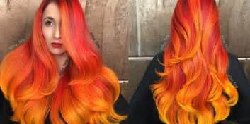 pheonix hairshow fire ombre balayage phoenix hair by guy tang