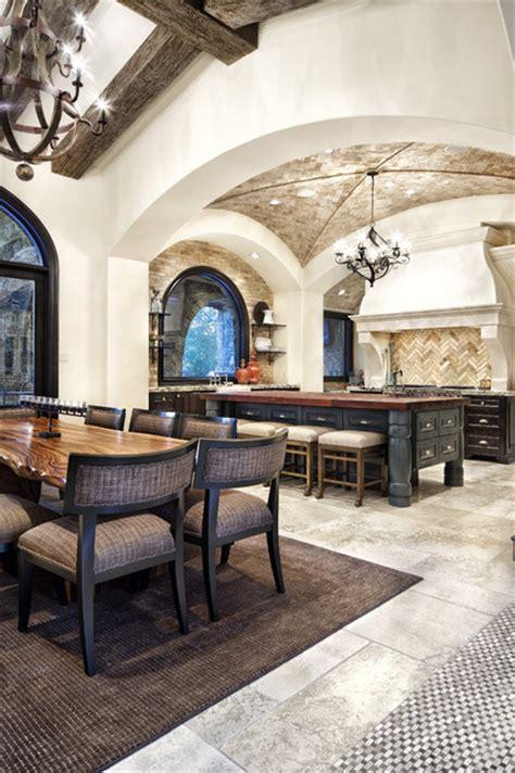 Jauregui Architecture Interiors Construction by Chic Mediterranean Kitchen By