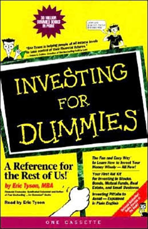 investing in your 20s and 30s for dummies for dummies business personal finance books investing for dummies 1 cassette by eric tyson