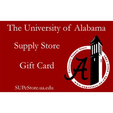 Superstore Gift Cards Selection - supe store gift card university of alabama supply store