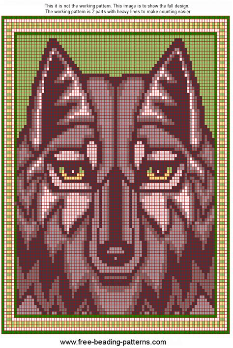 loom beading patterns free patterns animals cross stitch wolf loom beading pattern dont click on link it is spammy