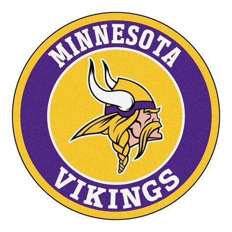 Funny Doormat by Minnesota Vikings Logo Roundel Mat 27 Quot Round Area Rug