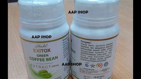 Hendel Exitox Green Coffee Bean green coffee bean hendel exitox asli indonesia