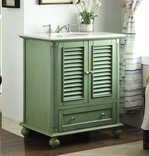 coastal bathroom vanity 30 inch bathroom vanity cottage coastal beach style green