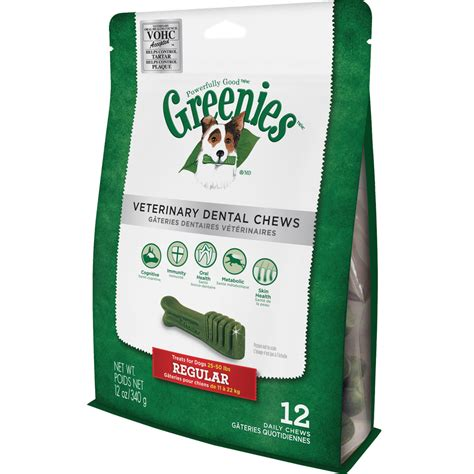 dental chews greenies veterinary dental chews regular 12 oz 12 chews